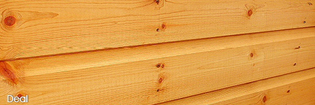 Deal (pine) cladding example