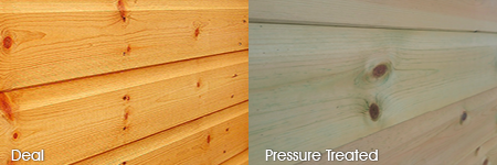 Timber cladding options: Deal, Pressure Treated